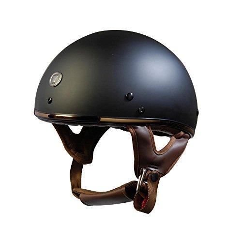 TORC Unisex-Adult's Half-Size Style T5 Fiberglass Motorcycle Helmet (Matte Black Bronze, (Fiberglass Motorcycle Helmets)