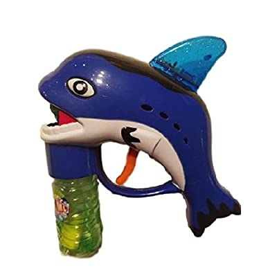 Killer Whale Fish Bubble Gun Blaster Shooter with Music - Friction Powered with light up moving fin: Toys & Games