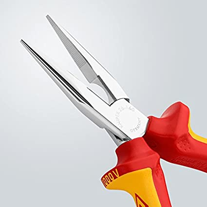 Snipe Nose Side Cutting Pliers Radio Pliers chrome plated insulated with multi-component grips, VDE-tested 160 mm: Amazon.com: Industrial & Scientific