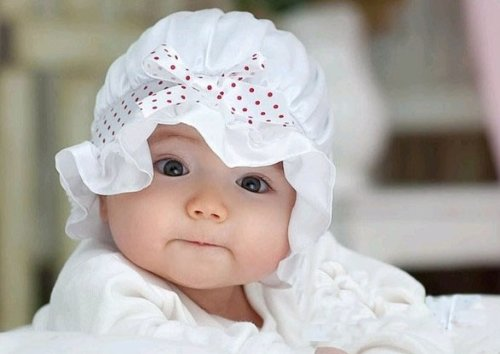 H:oter Voile Ruffled Sun Hat for Baby Girl -WHITE (Voile Ruffled)