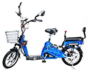 Motor Electric Bicycle x 2 Adult Seats+pedal+battery 20 Mile (Model: Class9) Blue