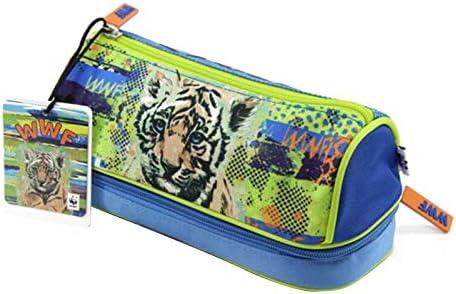WWF A Living Planet - Estuche escolar con doble cremallera + bolígrafo con purpurina + tarjeta WWF: Amazon.es: Equipaje