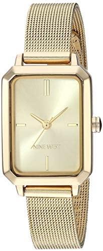 Nine West Women's Gold-Tone Mesh Bracelet Watch, NW/2342CHGP 1