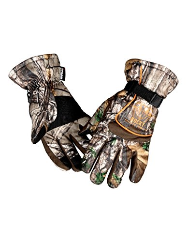 Camouflage Thinsulate Hunting Gloves (Rocky Men's Athletic Mobility Level 3 Waterproof Gloves, Realtree Extra Camouflage, Medium)