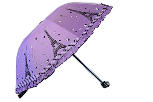 Aimeio Tower Patern Sun Shelter Ultraviolet-Proof Umbrella Rain Umbrella