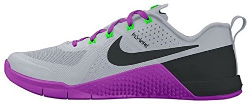 Nike Metcon 1 Women's Fitness Shoes Size US 5.5, Regular Width, Color Gray/Violet