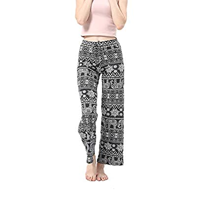 Women's Comfy Floral Lounge Pants High Waist Wide Legs Casual Palazzo Pants for Women