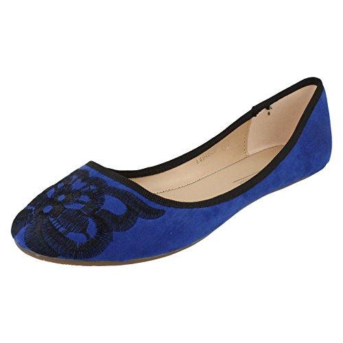 Dames Anne Michelle Ballerine L4946 Bleu
