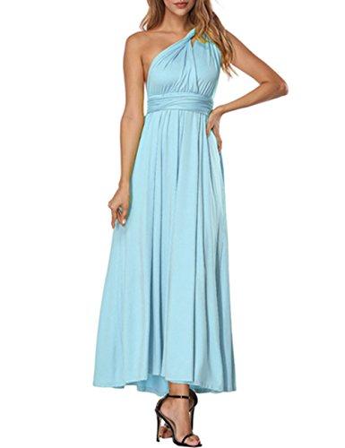 Forma de Multi Cintura Mujeres Convertible Honor Azul Vestidos SELUXU Abrigo de Transformador Alta Maxi Vestido Infinito Largo Formal Dama Vestido de Las wnIzY