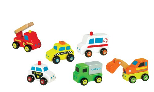 Small World Toys Ryan's Room - City Service Wooden Vehicle - Styles May Vary (Qty 1 pc) Small Wooden Cars