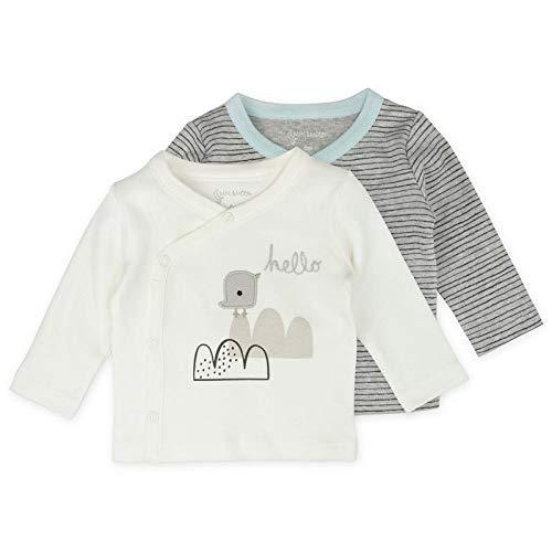 Baby Boy or Baby Girl Tee Set, 2-Pack Long Sleeve Kimono Tee Shirts, 3 Month