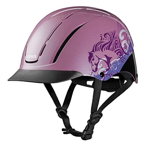 TROXEL Childrens Spirit Safety Horse Riding Helmet ? Low Profile Western Adjustable ? All Styles (Pink Dreamscape, ()