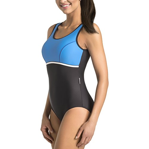 GWINNER Women's Marietta One Piece Padded Athletic Swimsuit - S - - 2017 Swimsuits Athletic