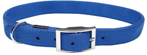 Nylon Double Ply Dog Collar (Dogit Nylon Double Ply Dog Collar with Buckle, X-Large, 28-Inch, Blue)