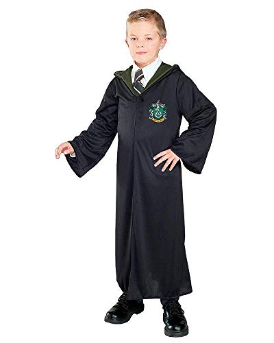 Harry Potter And The Deathly Hallows Costume, Child's Robe With Slytherin Emblem Costume, Medium -