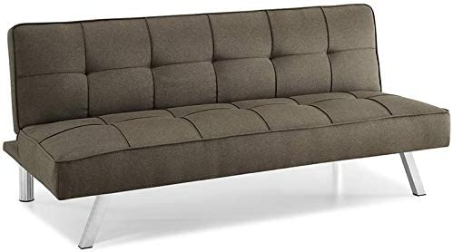 Hawthorne Collections Tufted Convertible Sleeper Sofa in Java