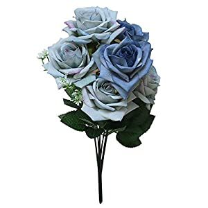 Yamart Artificial Flowers 7 Head Artificial Fake Roses Flower Bridal Bouquet for Wedding Bouquets Centerpieces,Arrangements Party Baby Shower Home Decorations 27