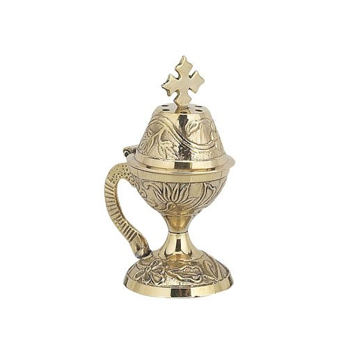 Christian Byzantine Orthodox Greek Censer Incense Burner Liturgy - Orthodox Incense