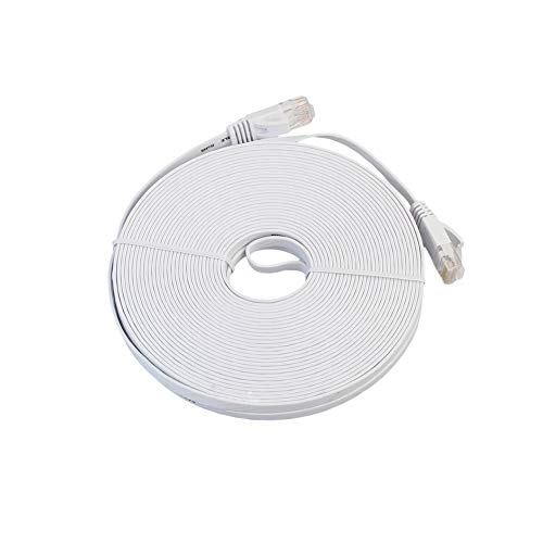 RuoFeng 6 Kinds of Standard Wire and Crystal Head Cat6 Network Connection Wire Ethernet Switch Modem Router Coupler White (20metres)