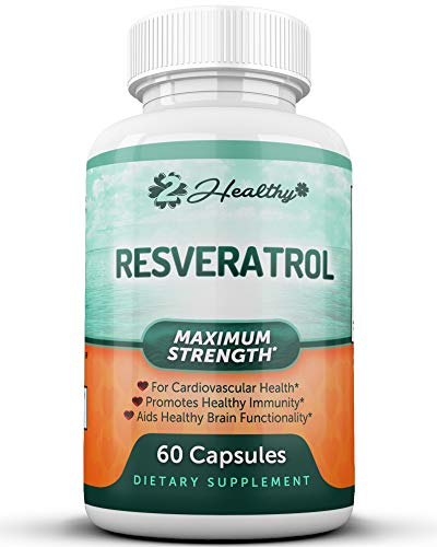 Pure Resveratrol Supplement - Antioxidant Polyphenols Extract, Natural Trans-Resveratrol Powder Pills for Heart Health & Weight Loss, Anti Aging Anti Oxidant, NMN NAD, 1200mg Per Serving, 60 Capsules