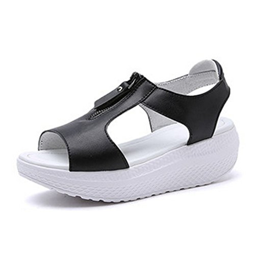Aksautoparts Moda Donna Ragazza In Pelle Cerniera Estate Scarpe Flops Sandali Scarpe Us7.5 = Eu39 = 9.65in Piedi Lunghezza