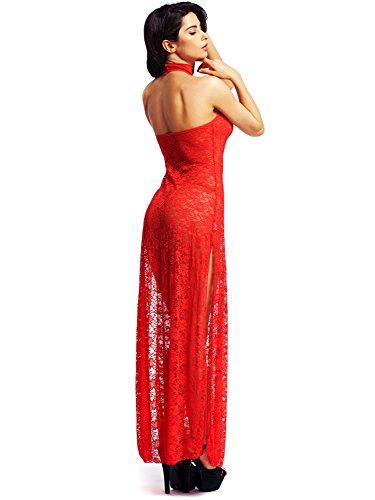Kleid transparent lang
