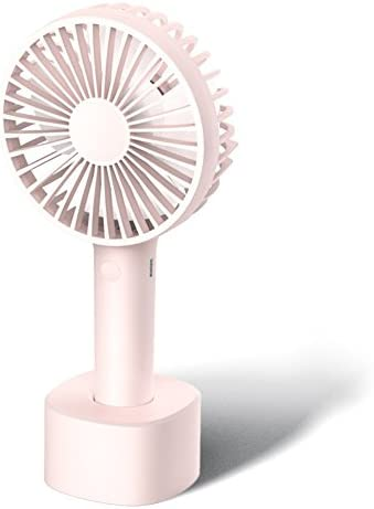Sun-Mall Rechargable Mini Handheld Fan Mini Portable USB Fan with Aroma Diffuser Function and Adjustable 3 Speeds for Office Home Household Outdoors Travel Picnic Pink