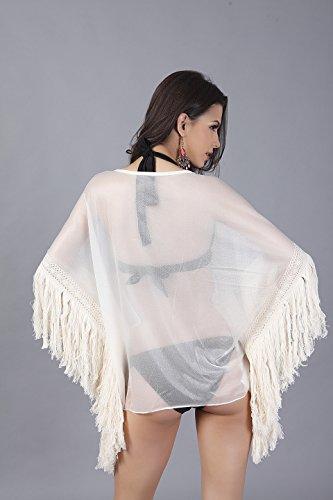 Plage De Femmes D'été Joygown Porter Couvrir Blanc Cassé Bikini Beachwear Maillots De Bain