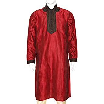 Libas Riyaz Gangji Red Festive Kurta & Kurtis For Men