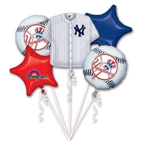 Anagram 32033 New York Yankees Balloon Bouquet -