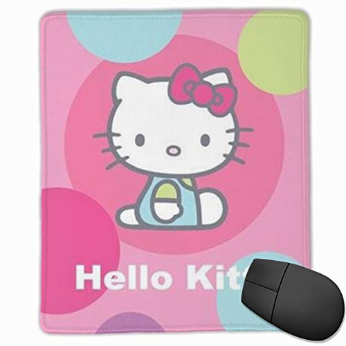 Hello Kitty Mouse Pad, Non-Slip Rubber Base Gaming Mouse Pad with Locking Edge- 9.8