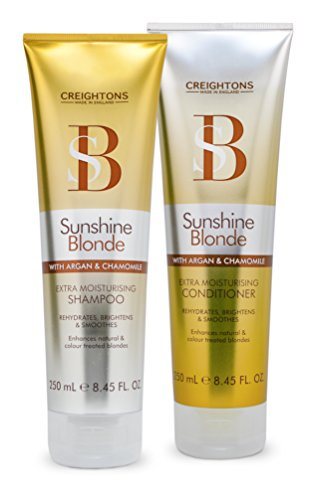 CREIGHTONS SUNSHINE BLONDE MOISTURISING SHAMPOO & CONDITIONER 250ml by Creightons (Best Moisturising Shampoo And Conditioner)