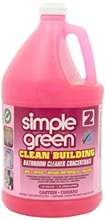 Simple Green 11101CT Clean Building Bathroom Cleaner Concentrate, Unscented, 1gal Bottle (Case of 2)
