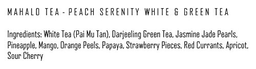 Mahalo Tea Peach Serenity White & Green Tea - Loose Leaf Tea - 2oz by Mahalo Tea (Image #4)