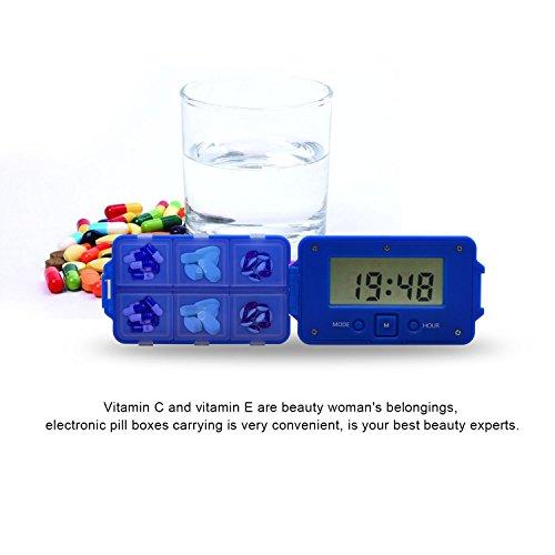 Pill Case, Medicine box, Pill Dispenser, Pill Organizer Freehawk® Daily Pill Reminder Box Storage System with 5 Alarms Medicine Travel Kit Elderly Pills Kit Medical Kit by Freehawk (Image #5)
