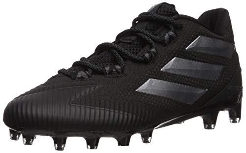 adidas Men's Freak Carbon Low Football Shoe, Black/Night Metallic/Grey, 15 M US
