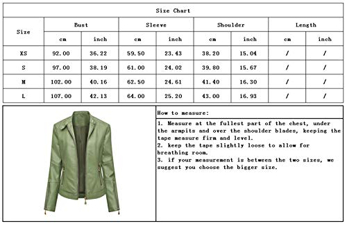 chouyatou Women's Casual Stand Collar Motorcycle Smooth Faux Leather Jacket