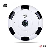 JC 720P HD WIFI IP Security Network Dome Camera for Home Surveillance, Fisheye 360° Indoor Dome With Night Vision Motion Detection 2-Way Talk Remote View B
