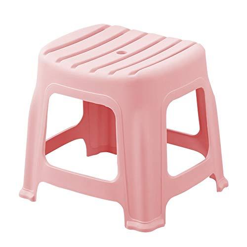 (Footstool Bathroom Non-Slip Stool Living Room Stool Restaurant Footrest HUYP (Color : Pink, Size : M))