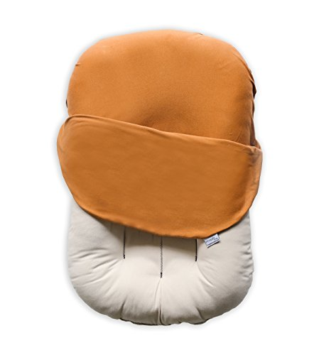 Snuggle Me Organic | Patented Sensory Lounger for Baby | Organic Cotton, Virgin Fiberfill | Ember