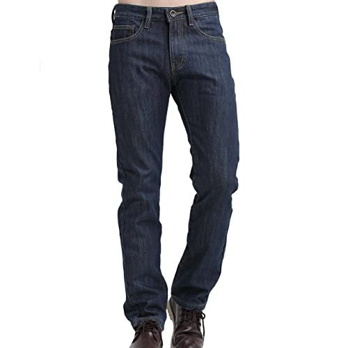 6c410fc4feb SSLR Men s Straight Fit Flannel Lined Denim Jeans (Blue) outlet ...