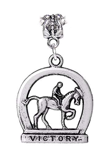 Pendant Jewelry Making Oversized Horse Racing Victory Equestrian Dangle Charm for European Bracelets