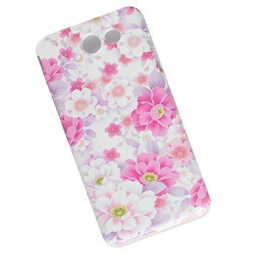 Slim Phone Case for Samsung Galaxy J3 (2017) J327, Emerge, Eclipse, Prime. Pink Flowers. ()