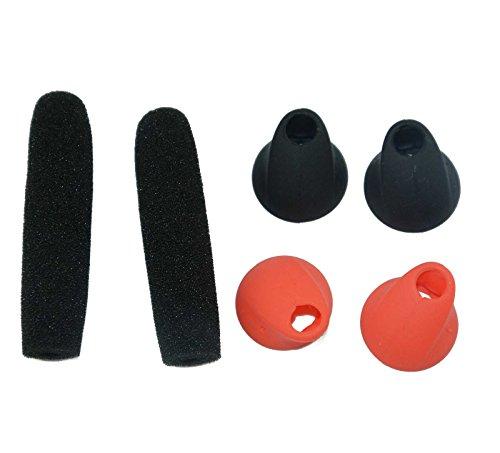 Lovinstar Replacement Eargel Ear Tips Cover Pack for Jabra Storm Bluetooth Wireless Headset 4pcs Ear Gels Earbuds + 2 Wind Socks