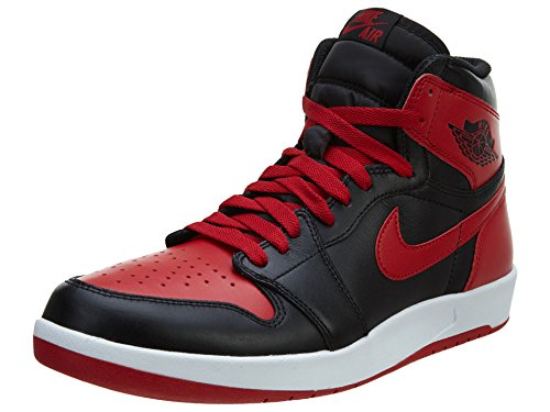 Nike Air Jordan 1 High the Return, Zapatillas de Deporte para Hombre Negro / Rojo / Blanco (Black/Black-Gym Red-White)