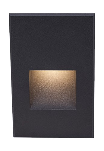 WAC Lighting WL-LED200-C-BK Contemporary Ledme Vertical Step & Wall Light, Black