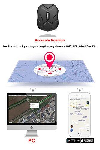 GPS Tracker Locator,TKMARS Car GPS Tracker GPS Tracker Waterproof Tracking Device 150 Days Standby Tracker Portable Tracker Real Time Locator 10000mah Battery TK905B Vehicle Motorcycles Trucks by Hangang (Image #6)