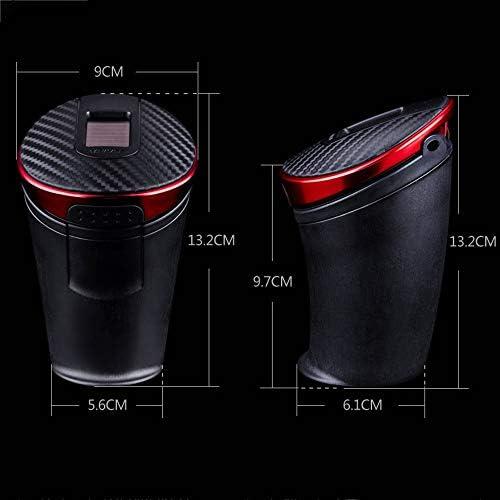 Wen Ying カバーが付いている車の灰皿多機能車の灰皿が付いている車車のふたが付いている普遍的な灰シリンダー車の灰皿 灰皿 車 (Color : Red)