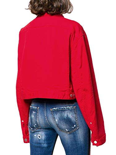 S75am0629s44531309 Donna Dsquared2 Rosso Giacca Cotone PgTTAnwUq