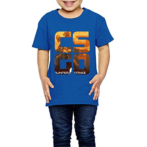 AK79 Kids 2-6 Years Old Boys And Girls CS GO Game Logo T Shirt RoyalBlue Size 4 Toddler